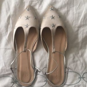 J.Crew Satin Star Embroidered Pointy Flat -NWOT